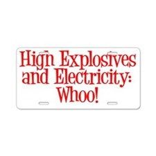 highexplosives Aluminum License Plate