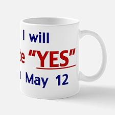 VoteYesSticker Mug