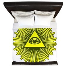 All Seeing Eye Yellow King Duvet