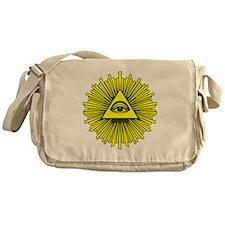 All Seeing Eye Yellow Messenger Bag