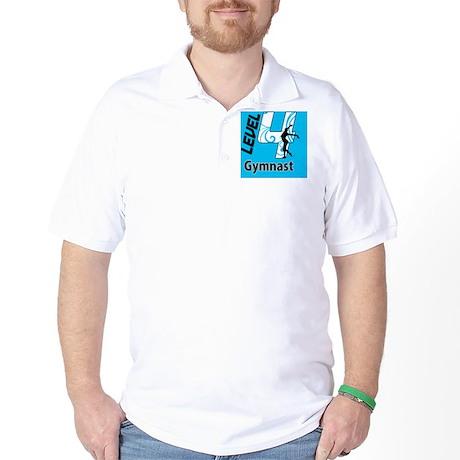 Level_4_Gymnast_Ver1_Blue_button Golf Shirt