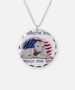 Amerian Flag Dog, Bully for  Necklace
