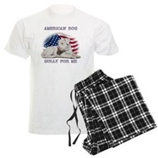 Amerian Flag Dog, Bully for M Pajamas
