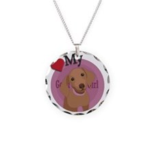 love my girl dachshund Necklace