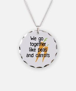 like peas and carrots_carrot Necklace