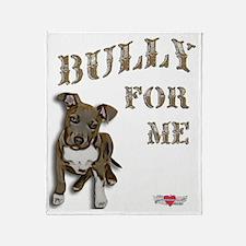 Bully for Me, Pitbull Puppy Porsche Throw Blanket