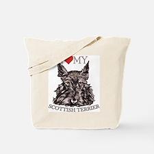 Scottish Terrier Love My Tote Bag