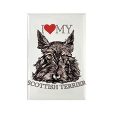 Scottish Terrier Love My Rectangle Magnet