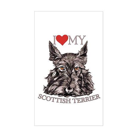 Scottish Terrier Love My Rectangle Sticker