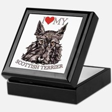 Scottish Terrier Love My Keepsake Box