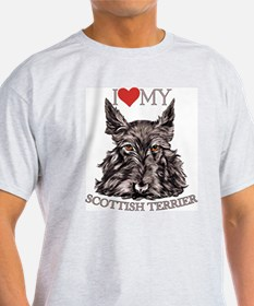 Scottish Terrier Love My Ash Grey T-Shirt