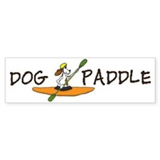 dog paddle for large bowl Larry f Car Sticker