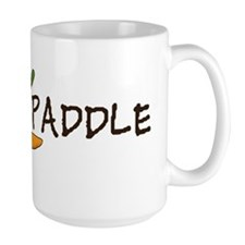 dog paddle for large bowl Larry font Mug