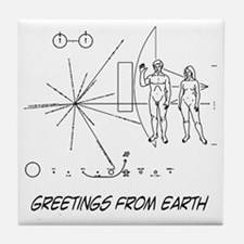 earthgreeting01 Tile Coaster