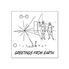 "earthgreeting01 Square Sticker 3"" x 3"""