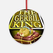 Gerbil King Black Round Ornament
