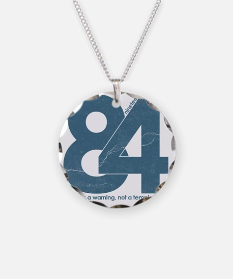 nineteen84Faded Necklace Circle Charm