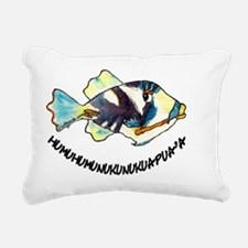2-RoundHumu2Fish Rectangular Canvas Pillow