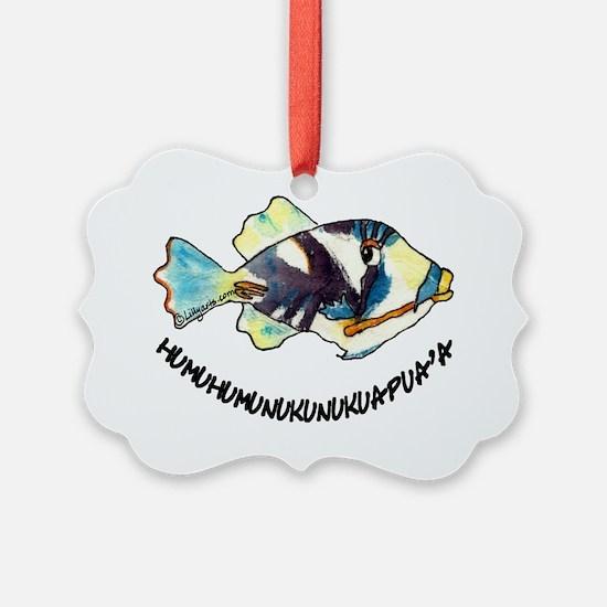 2-RoundHumu2Fish Ornament