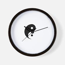 YinYang2 -dk Wall Clock