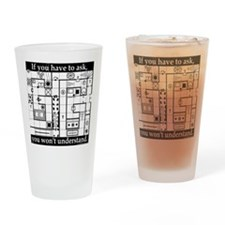 Dungeon Crawl Tee Drinking Glass
