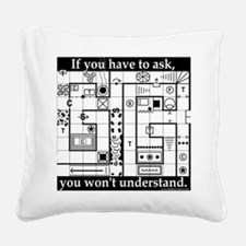 Dungeon Crawl Tee Square Canvas Pillow