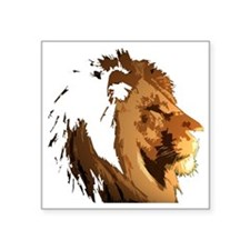 "lionFaceBK Square Sticker 3"" x 3"""
