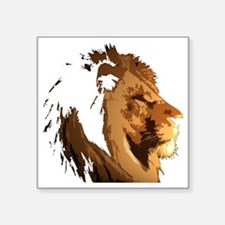 """lionFaceBK Square Sticker 3"""" x 3"""""""