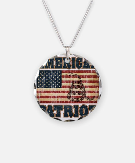 american patriot Necklace Circle Charm