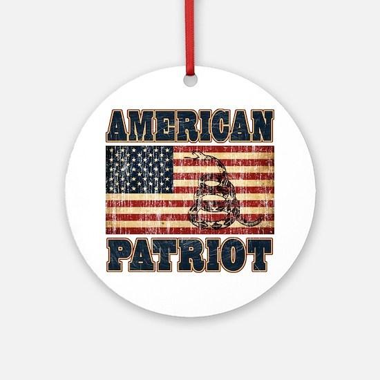 american patriot Round Ornament