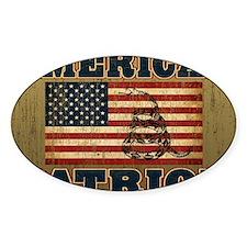 american patriot_yard Decal