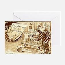 glassblower_beer Greeting Card