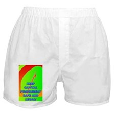 KEEP CAPITAL PUNISHMENT(large poster) Boxer Shorts
