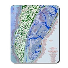 1023 Map of Northampton County, VA Mousepad