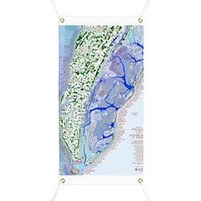 1023 Map of Northampton County, VA Banner