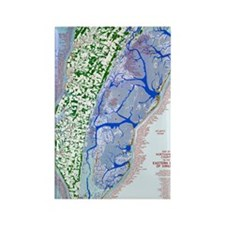 1023 Map of Northampton County, V Rectangle Magnet