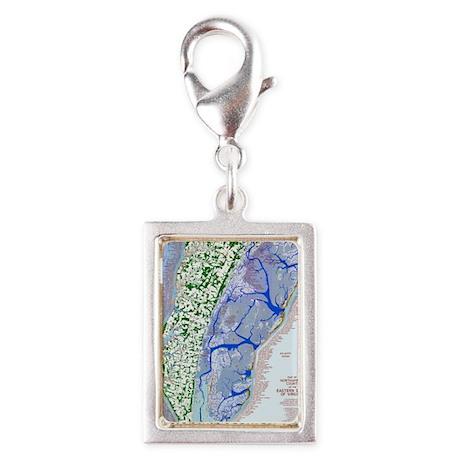 1023 Map of Northampton Coun Silver Portrait Charm