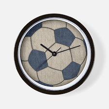 Fabric Soccer Wall Clock