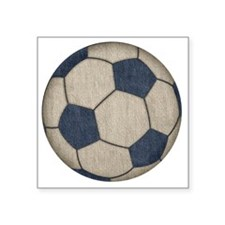 "Fabric Soccer Square Sticker 3"" x 3"""