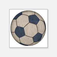 """Fabric Soccer Square Sticker 3"""" x 3"""""""