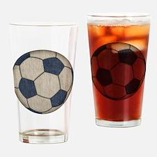 Fabric Soccer Drinking Glass