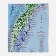 7002 Eastern Shore Map Throw Blanket