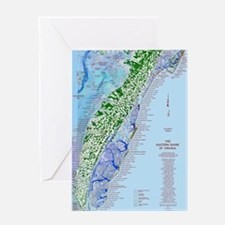 7002 Eastern Shore Map Greeting Card