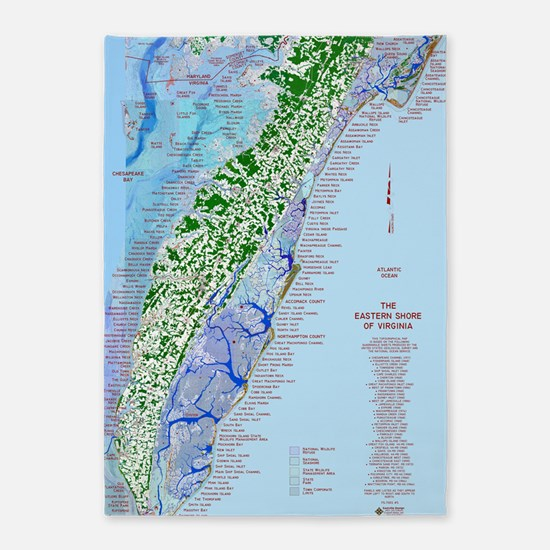 7002 Eastern Shore Map 5'x7'Area Rug