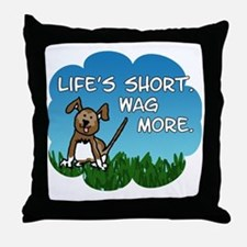 Wag More Square Throw Pillow