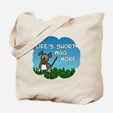 Wag More Square Tote Bag