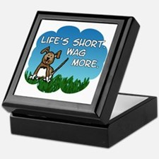 Wag More Square Keepsake Box