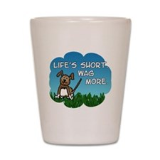 Wag More Square Shot Glass
