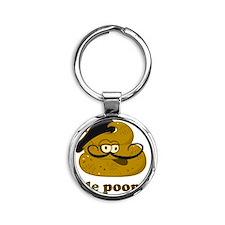 lepoop Round Keychain