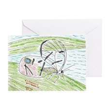 2-Clearwing Butterfly Greeting Card